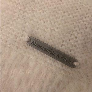 A&F soft fuzzy white sweater